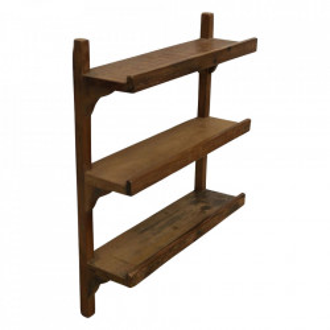 Etajera maro din lemn pentru perete 64 cm Stair Raw Materials
