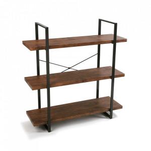 Etajera maro/neagra din lemn si metal 104 cm Ama Versa Home