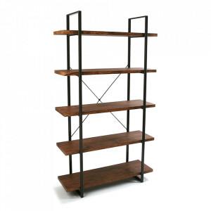 Etajera maro/neagra din lemn si metal 179 cm Ama Versa Home
