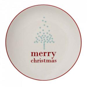 Farfurie alba din ceramica 20 cm Merry Bloomingville