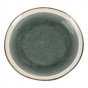 Farfurie gri din ceramica pentru desert 21 cm Gokio Santiago Pons