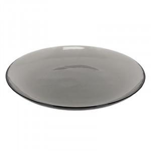 Farfurie gri inchis din sticla 26,3 cm Syna La Forma