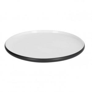 Farfurie intinsa alba/neagra din ceramica 26 cm Sadashi Kave Home