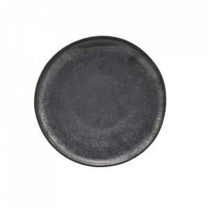 Farfurie intinsa neagra/maro din portelan 21,5 cm Pion House Doctor