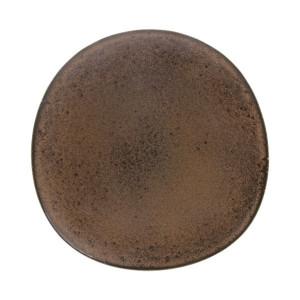 Farfurie maro din ceramica 29 cm Bold and Basic Terra HK Living