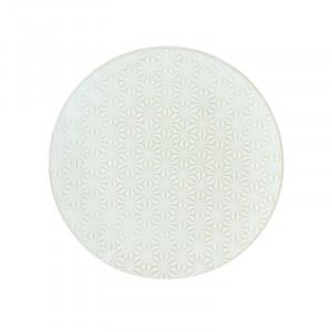Farfurie pentru desert din ceramica 20 cm Ivy Flower LifeStyle Home Collection