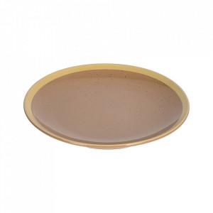 Farfurie pentru desert maro deschis din ceramica 21 cm Tilla Kave Home