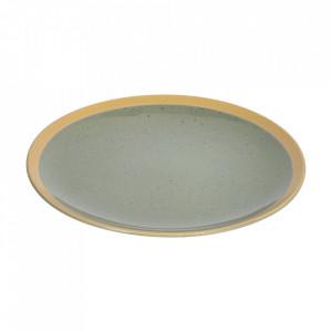 Farfurie pentru desert verde din ceramica 21 cm Tilla Kave Home