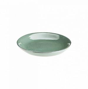 Farfurie verde din ceramica 15 cm Cake Green Madam Stoltz