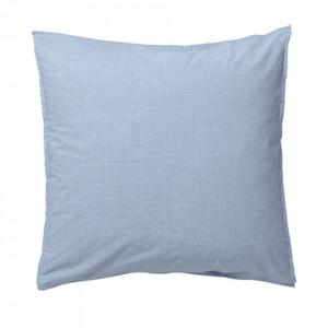 Fata de perna albastra din bumbac 80x80 cm Hush Light Blue La Forma