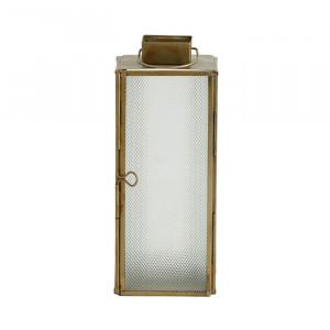 Felinar din fier si sticla 21 cm Islay Frosted Brass Nordal