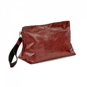 Geanta clutch rosie din piele Ariq XL Serax