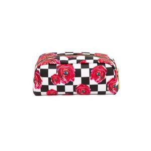 Geanta multicolora din poliuretan 9x20,5 cm pentru cosmetice Toiletpaper Roses Seletti