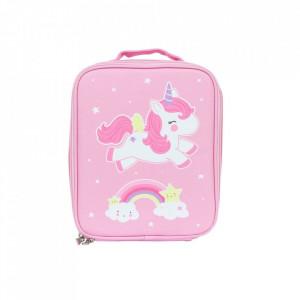 Geanta roz din poliester Unicorn A Little Lovely Company