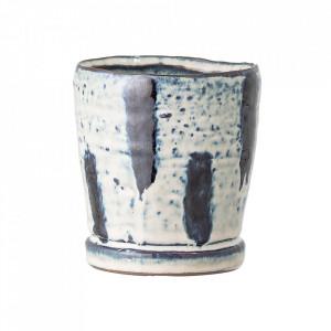 Ghiveci albastru/crem din ceramica 10 cm Will Bloomingville