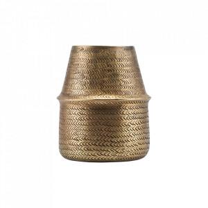 Ghiveci auriu din aluminiu 23 cm Rattan House Doctor