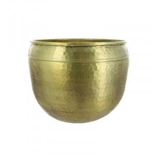 Ghiveci auriu din aluminiu 33 cm Oyibo Lifestyle Home Collection