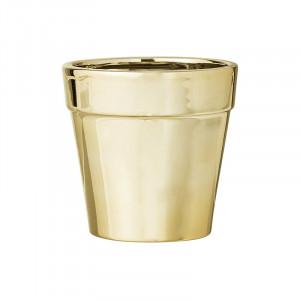 Ghiveci auriu din ceramica 10 cm Lucile Bloomingville