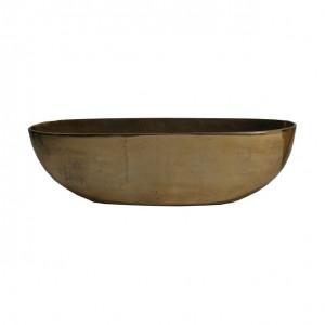 Ghiveci auriu din otel 20x71 cm Arezzo Van Roon Living
