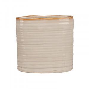 Ghiveci crem din ceramica 25 cm Vivek Lifestyle Home Collection