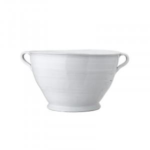 Ghiveci decorativ alb din teracota 31 cm Jalila Creative Collection