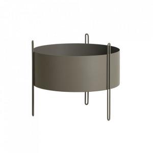 Ghiveci grej din metal 40 cm Pidestall Medium Woud