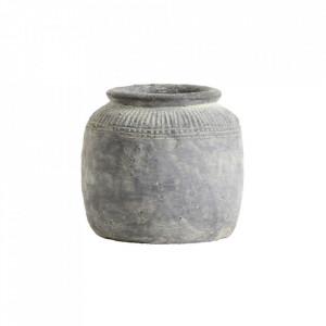 Ghiveci gri din ciment 19 cm Cema Nordal