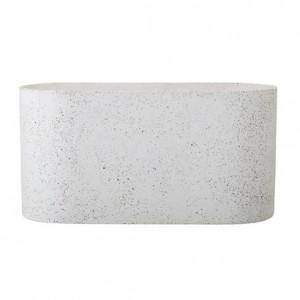 Ghiveci gri din ciment 40x20x16 cm Bloomingville