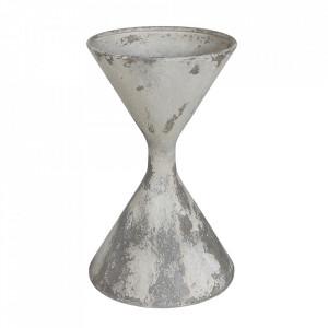 Ghiveci gri din metal 38 cm Favina Creative Collection