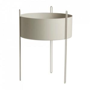 Ghiveci gri din metal 40 cm Pidestall Woud