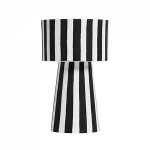 Ghiveci negru/alb din ceramica 15 cm Toppu Oyoy