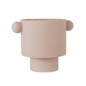 Ghiveci roz din ceramica 30 cm Inka Kana Oyoy