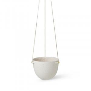Ghiveci suspendabil alb antic din ceramica 21 cm Speckle Ferm Living