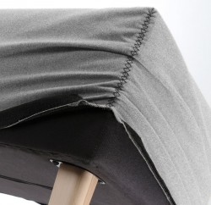 Husa pentru bancheta gri deschis din textil Lydia Grey La Forma