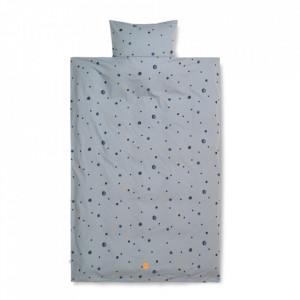 Husa pentru pilota albastra din bumbac 100x140 cm Moon Ferm Living