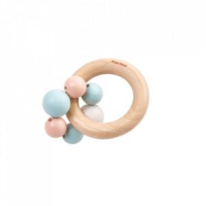 Jucarie zornaitoare multicolora din lemn Beads Rattle Plan Toys