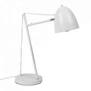 Lampa birou alba din metal 57 cm Tossal Somcasa