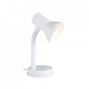 Lampa birou alba din plastic si metal 30 cm Junior Brilliant