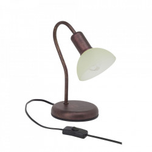 Lampa birou aramie antichizata/bej sampanie din metal si sticla 26,3 cm Pearl Brilliant