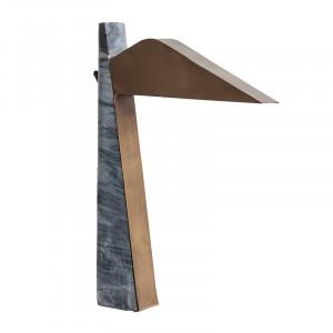 Lampa birou aurie/gri din alama si marmura 59 cm Clara Vical Home