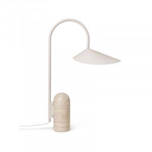 Lampa birou crem din otel si travertin 51 cm Arum Ferm Living