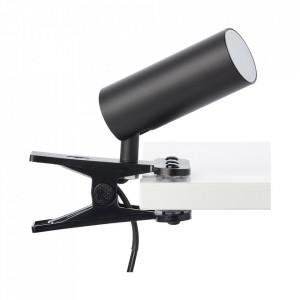 Lampa birou neagra din plastic si metal cu LED 18 cm Soeren Brilliant