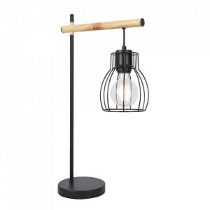Lampa birou neagra/maro din otel 55 cm Bernita Candellux