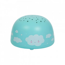 Lampa cu proiector multicolora din plastic cu LED 9 cm Cloud A Little Lovely Company