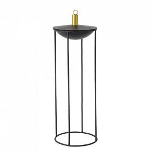 Lampa cu ulei neagra din fier si alama pentru exterior 57 cm Sivo Bloomingville