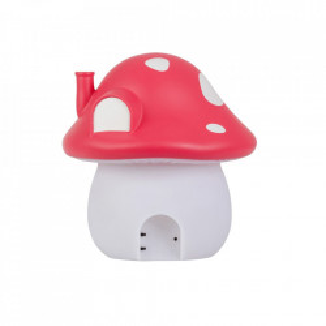 Lampa de veghe rosie/alba din PVC cu LED 19 cm Mushroom A Little Lovely Company