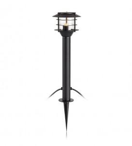 Lampa dimabila neagra/transparenta din aluminiu si plastic 45,5 cm pentru gradina Garden Pole Markslojd