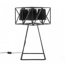 Lampa metalica neagra 35x35cm Multilamp Table Seletti