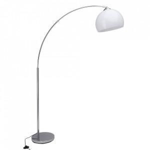 Lampadar argintiu/alb din plastic si metal 166 cm Vessa Brilliant