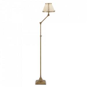 Lampadar auriu din inox si aluminiu 105-135 cm Brunswick Eichholtz